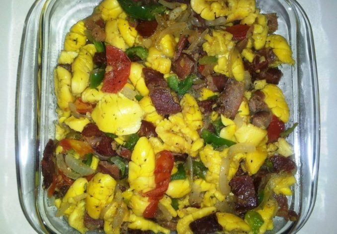 Ackee and Corned Pork 2