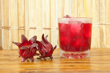 12885114 - roselle or hibiscus juice, a drink for good health